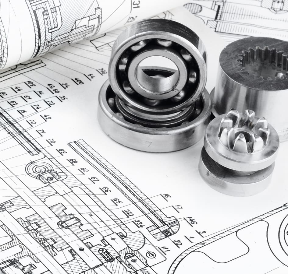 Mechanical engineering services for the production of machinery and mechanisms